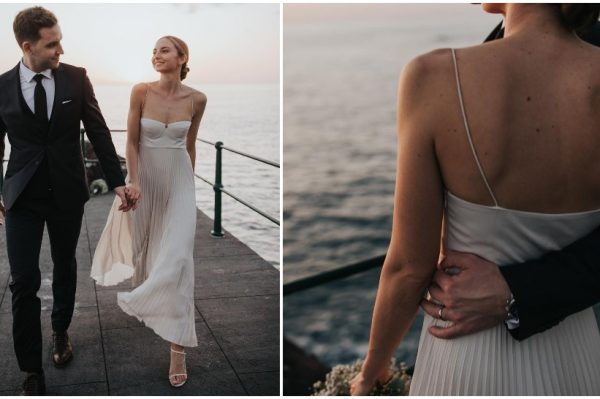 Plisirana vjenčanica za intimno blogersko vjenčanje
