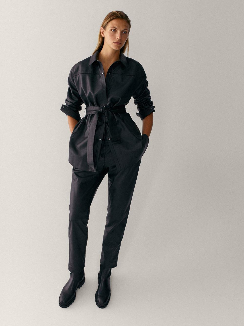 Massimo Dutti kožne hlače jogger model 2021.