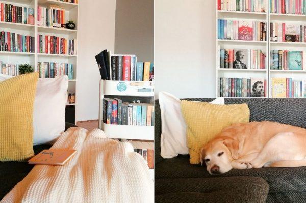 Reading corner u koji smo se zaljubili: Razigrani kutak naše book blogerice