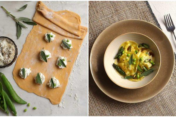 Super ideja za ručak – ravioli od ricotte, graška i šparoga