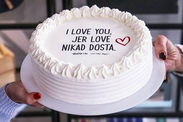Torta s ovim porukama bit će najoriginalniji poklon za Valentinovo