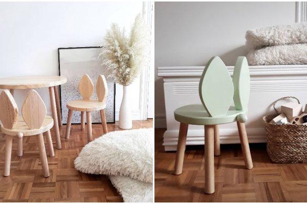 Bunny chairs domaćeg brenda dat će novu dimenziju svakoj dječjoj sobi