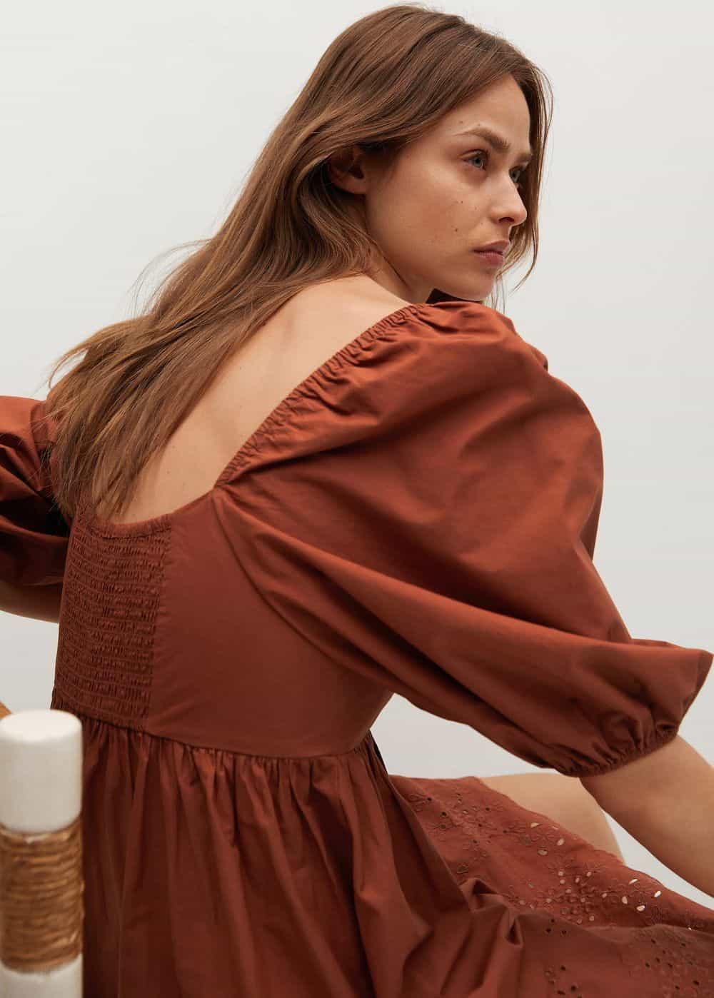 Mango rupičaste bluze i haljine proljeće ljeto 2021.