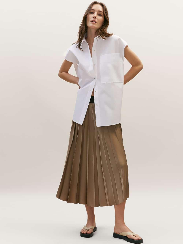 Massimo Dutti plisirana suknja proljeće 2021.