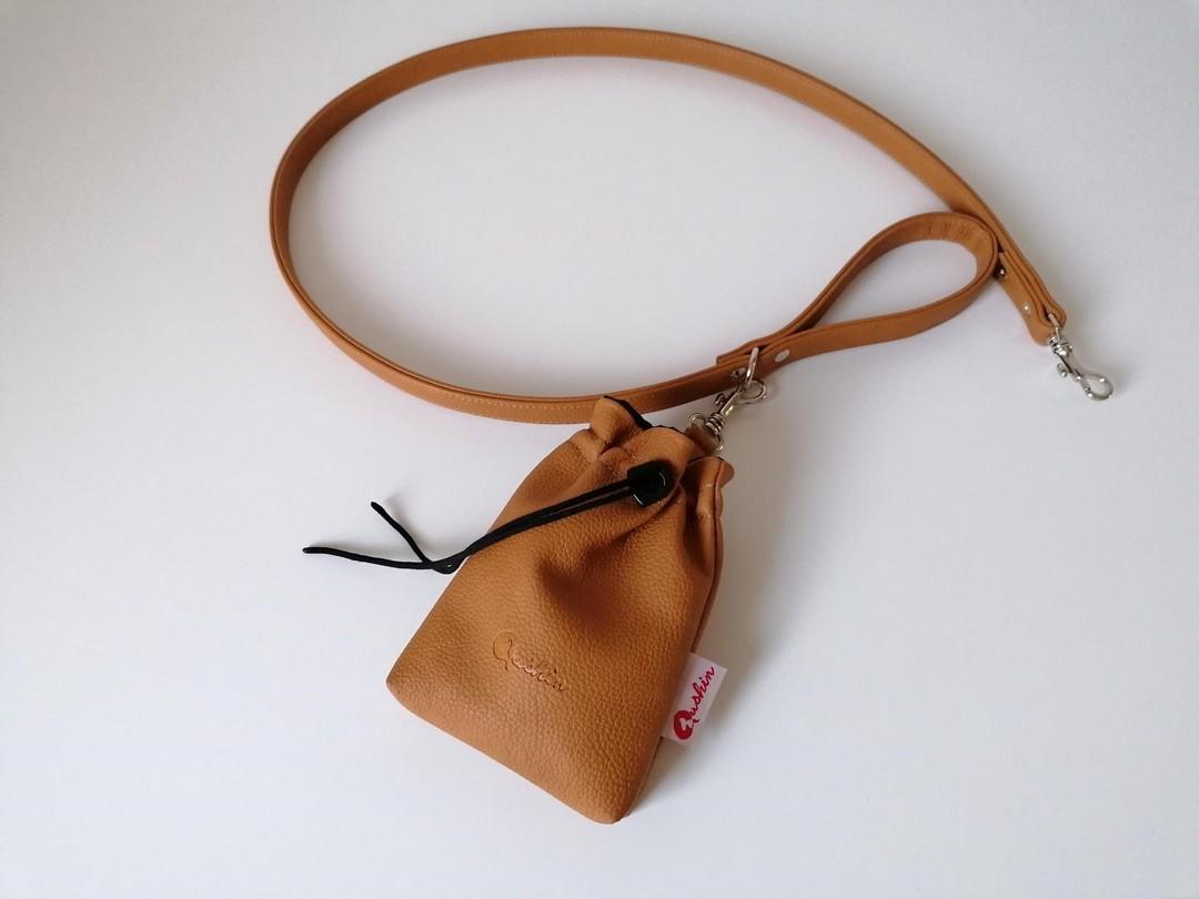 Qushin Amber povodnik i torbica za šetnju