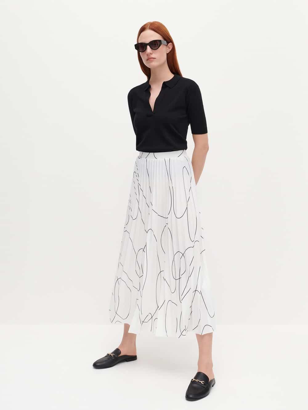 Reserved plisirana suknja proljeće 2021.