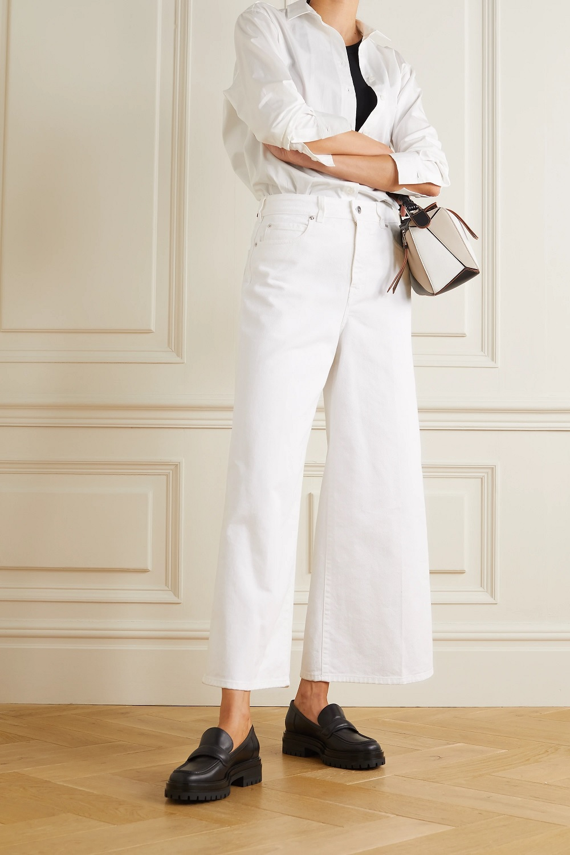 Victoria Victoria Beckham bijele traperice proljeće 2021.