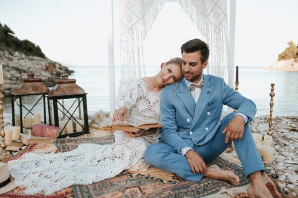 Vjenčanje u boho stilu na idiličnoj plaži u Istri