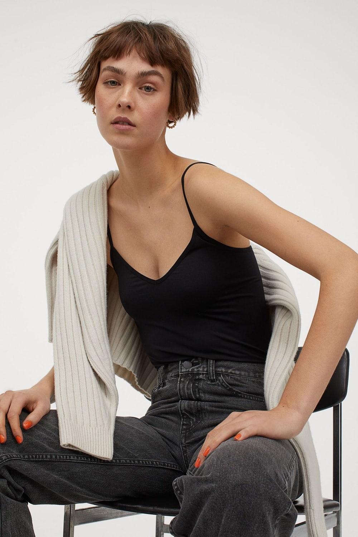 H&M basic top bez rukava proljeće ljeto 2021.