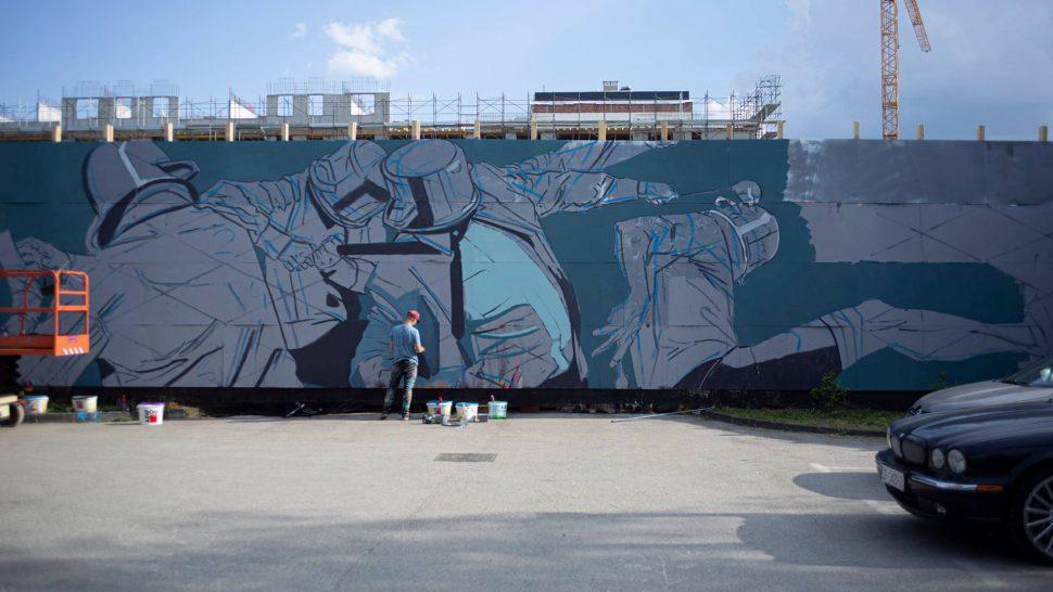 Dođite danas u Laubu na oslikavanje murala