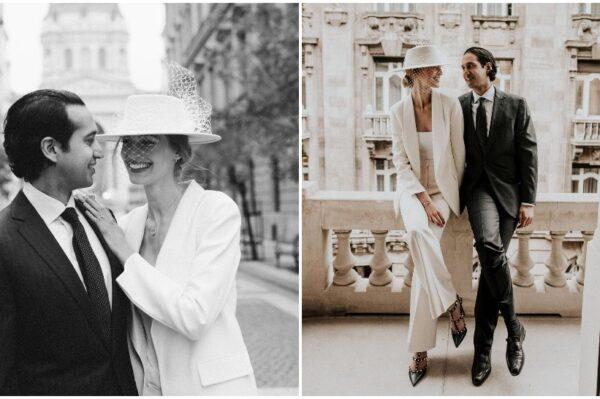 Divno bijelo odijelo i šešir za jedno moderno vjenčanje