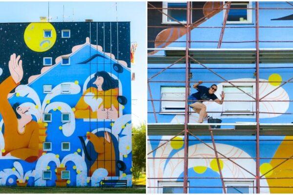 Novi mural u Sisku napravila je umjetnica Tea Jurišić