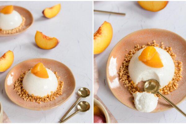 Foodoris: Panna cotta od kokosa s breskvama