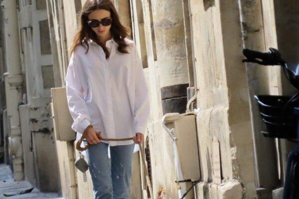 Street style inspiracija: Look Lily Collins u kojem želimo provesti jesen
