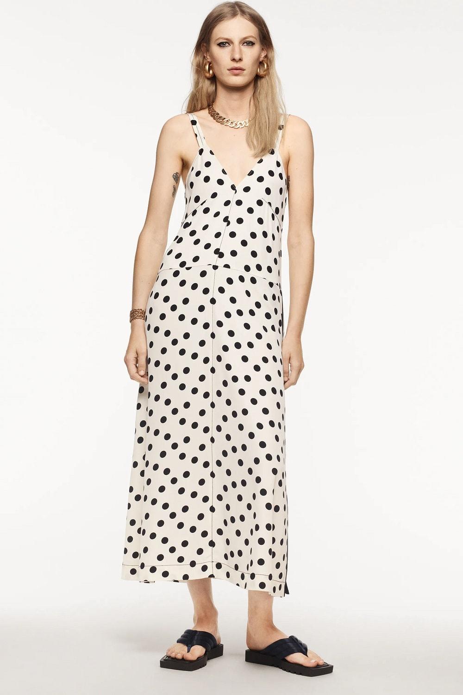 Zara točkaste haljine jesen 2021.