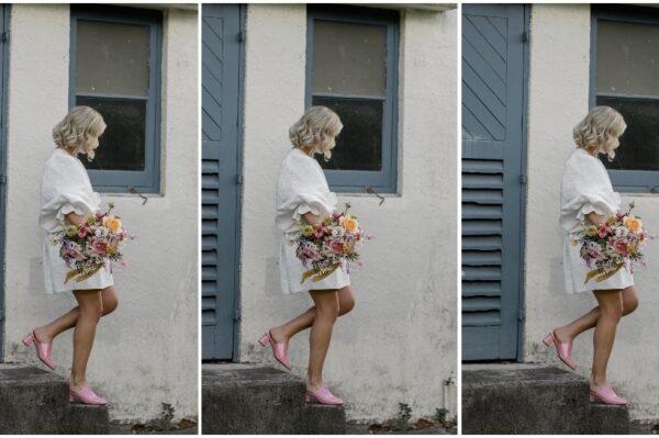Mini vjenčanica i ružičaste cipele za jako cool wedding kombinaciju