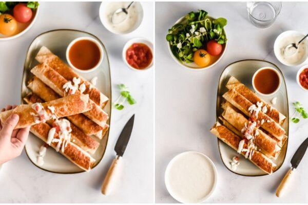 Bake me by Nina: Jednostavni taquitos s piletinom za vruće ljetne dane