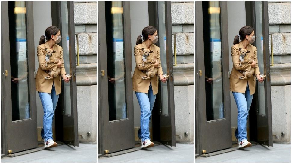 Street style inspiracija: Katie Holmes u omiljenoj jesenskoj kombinaciji