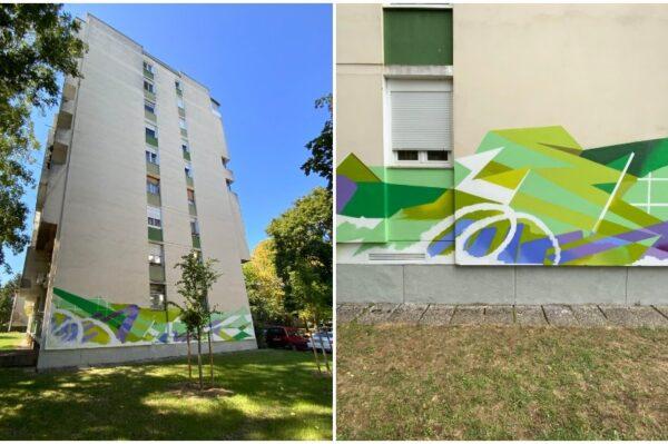 Chez 186 autor je novog murala na zgradi u Gajnicama