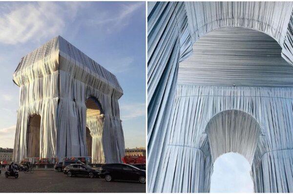 Impresivno umjetničko djelo: Arc de Triomphe u Parizu omotan u tkaninu