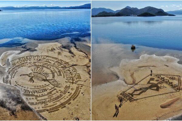 Pogledajte predivne umjetničke radove u pijesku nastale na Ušću Neretve