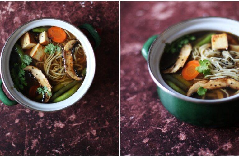 Culinary Postcards: Miso juha s povrćem i rižinim rezancima